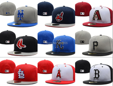 Top quality Men's baseball fitted hats,Full Closed fitted caps,sport fashion hip hop cotton sized hats for men and women(China (Mainland))