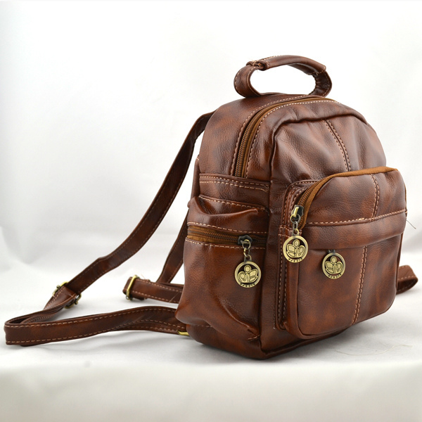 Brown Faux Leather Backpack Faux Leather Brown Weekend