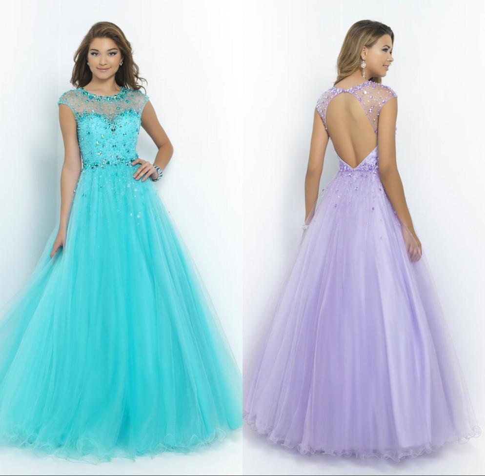 Light Blue Backless Prom Dresses Promotion-Shop for Promotional ...