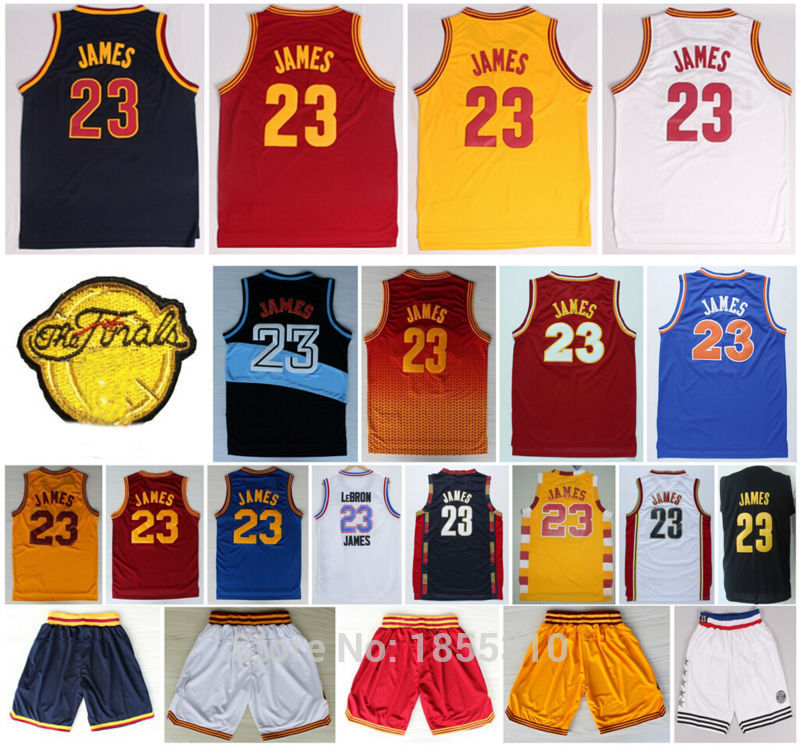 Cheap Sale James #23 Dark Blue Red White Yellow All Style New Rev 30 Embroidery James Basketball Jerseys Shirts Stitched(China (Mainland))