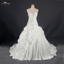 Buy RSW788 Real Sample Photos Satin Ball Gown Wedding Dresses Beaded Lace Appliques Vestidos de Noiva for $320.00 in AliExpress store