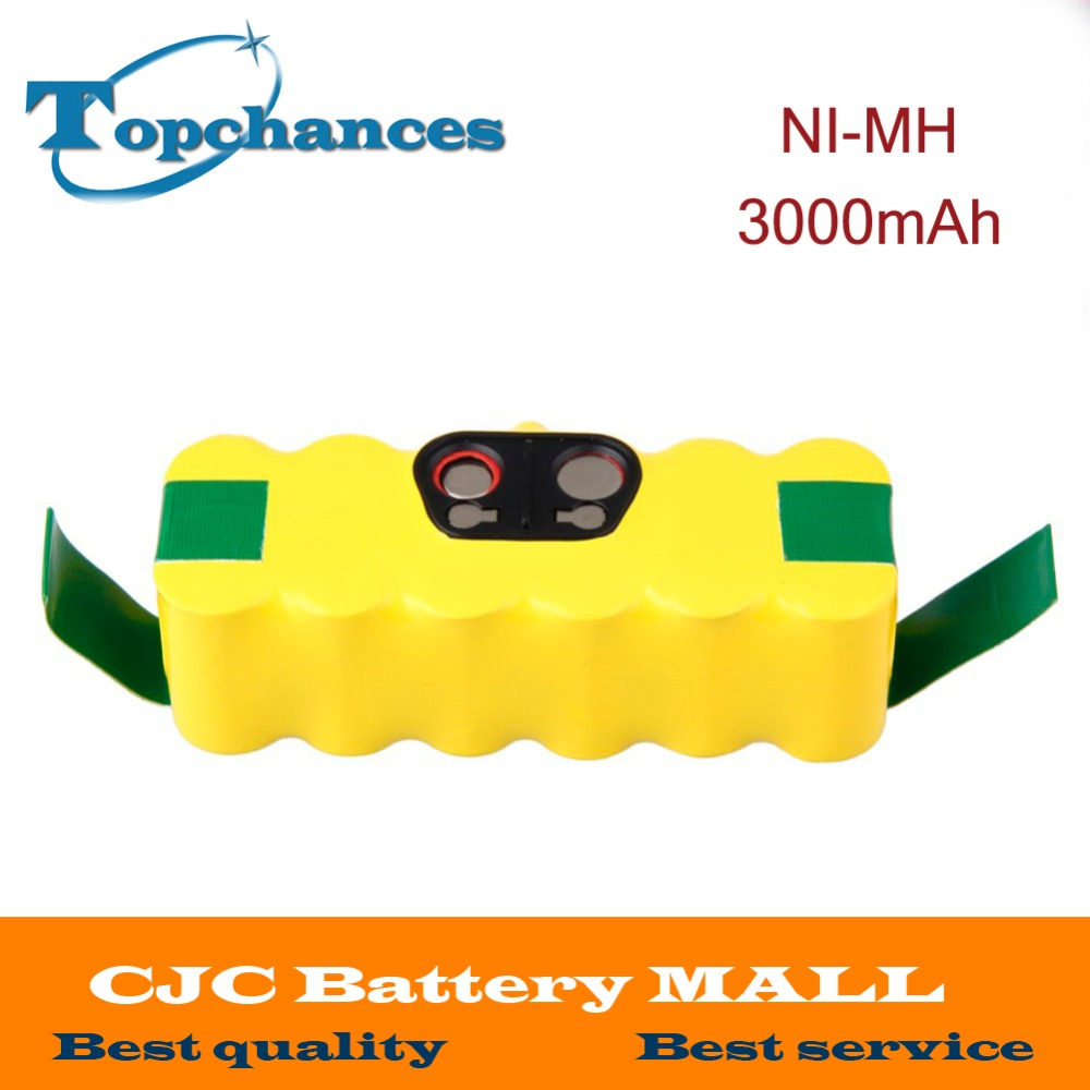 14.4V 3000mAh Ni-MH Battery for iRobot Roomba Vacuum Cleaner for 500 560 530 510 562 550 570 581 610 650 790 780 532 760 770(China (Mainland))