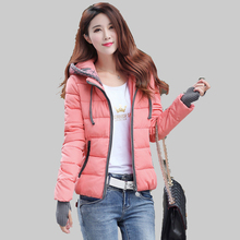Fashion 2015 New Student Winter Coat Female Long Sleeve Warm Slim Down Cotton Padded Jacket Women Plus Size Parkas Mujer YB806