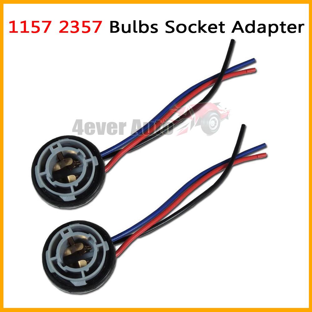 2pcs 1157 2057 2357 7528 1157A BA15D 2357A 2397 BA15D LED Bulb Backup Light Turn Signal Light Socket Harness Plug Adapter Base(China (Mainland))