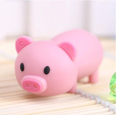100% real capacity Lovely mini Pig USB Flash Drive cute animal pen drive Gift cartoon pendrives 4GB/8GB/16GB Wholesale(China (Mainland))