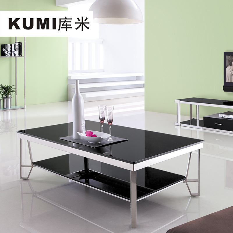Library meters modern minimalist black tempered glass end table legs living room tea table Black glass side tables for living room
