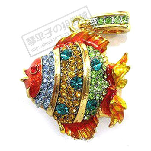 Retail genuine 2G 4G 8G 16G 32G Multicoloured fish crystal usb flash drive Free shipping+Drop shipping -UB65(China (Mainland))