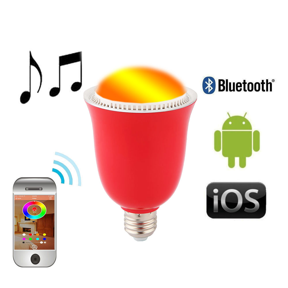 Wireless Color Light Bluetooth Speaker 5W Smart LED Bright Lamp Bulb Android iOS E27/E26 Screw Base/B22 Hanging - Corcossi Science & Technology CO., LTD store