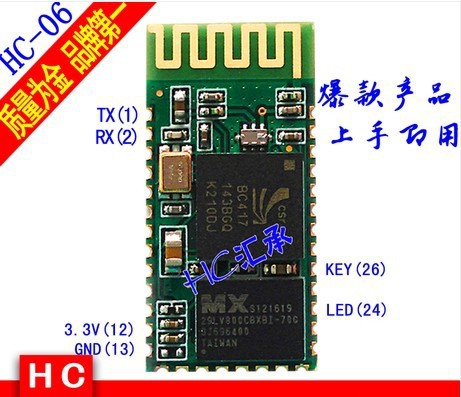 hc-06 HC 06 RF Wireless Bluetooth Transceiver Slave Module RS232 / TTL to UART converter and adapter(China (Mainland))