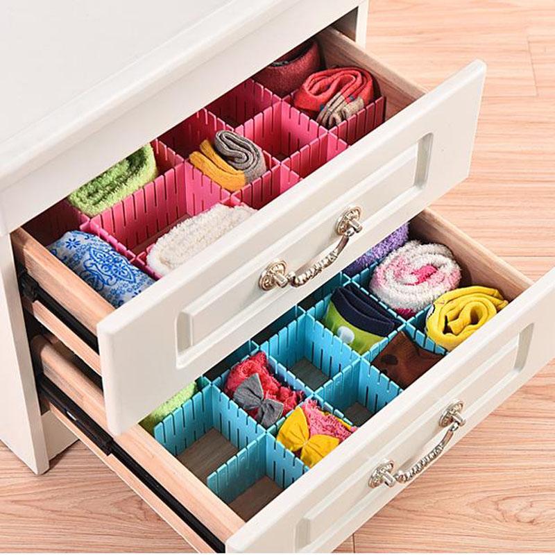 6Pcs/Set Storage Box Creative Diy Spacer Mounted Drawer Partitions Free Combination Grid Clapboard Finishing Box ZHH402(China (Mainland))