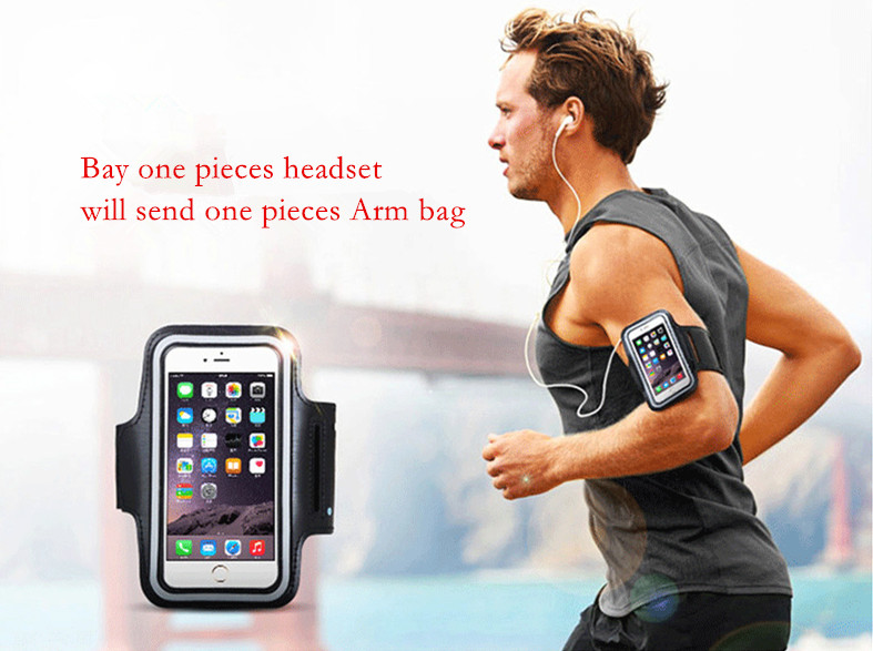 A885BL Bluetooth Headset Headphones Sports Wireless IPX4 Waterproof With NFC Microphone AptX Sport Earphone for Running Gym