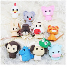 2014 special offer papelaria frozen rubber school 10pcs/lot /color/item free shipping pencil topper lovely chicken eraser(China (Mainland))