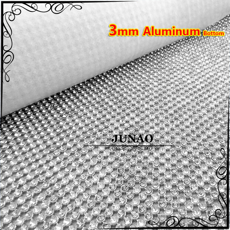 3mm Silver Color Aluminum Mesh Rhinestones Beads Trim Crystal Bridal Applique For Wedding Clothes Dress Decoration(China (Mainland))