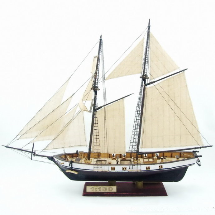Free shipping wooden scale model ship Assembly Model kits Classical wooden sailing boat model HARVEY1847 scale wooden model(China (Mainland))