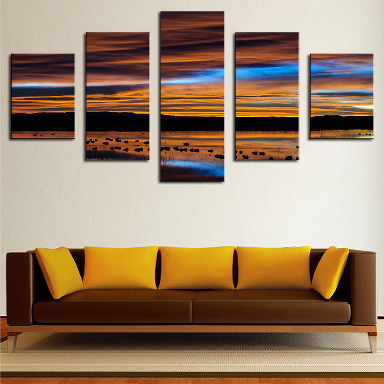 panel new mexico sunset modern home wall decor canvas picture art print wall : new mexico home decor