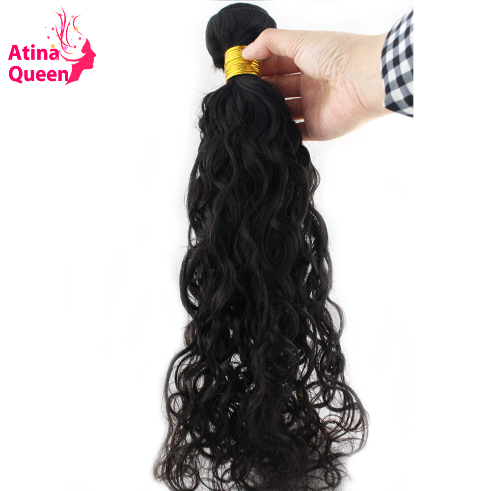 Atina Queen Wet and Wavy Human Hair Weave Bundles 10-30inch Natural Color for Black Women Free Shipping non Remy Peruvian 1piece(China (Mainland))