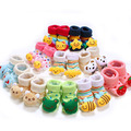 High quality 4Pcs Baby Rattle Toy Socks Animal Cute Cartoon Baby Socks