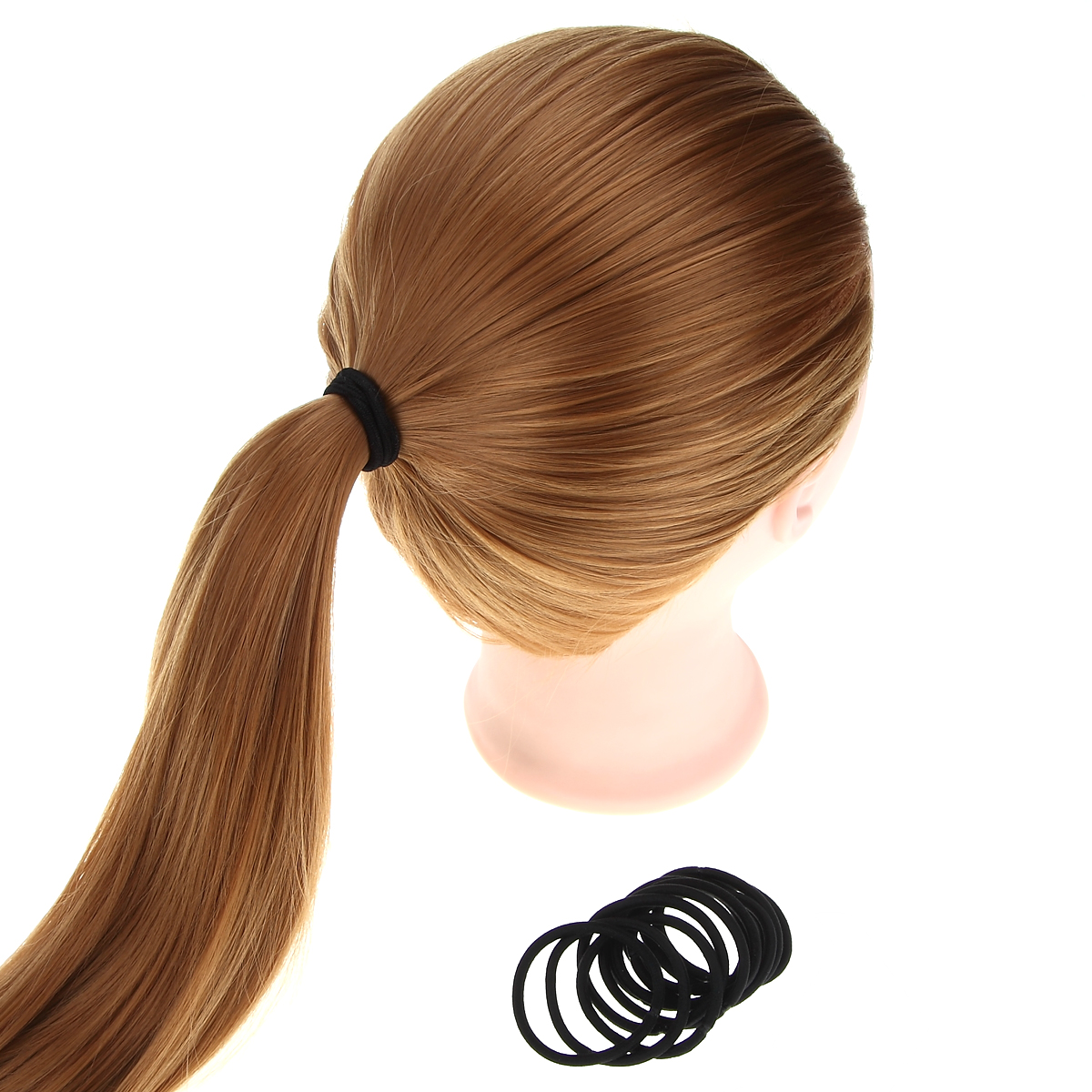 12 Pcs/set Black Color Solid Hair Ropes Ponytail Hold Rubber Elastic Hair Band Hair Accessories for Women Keep Hairstyle Tools(China (Mainland))