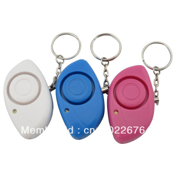 LED Light Plastic Case Personal Guard Alarm w Key Ring
