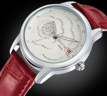2014 Skone Luxury Rhinestone Calendar Women Watch Lady Quartz Leather Band Wristwatch Fashion Crystal Diamond Watches WWL0052