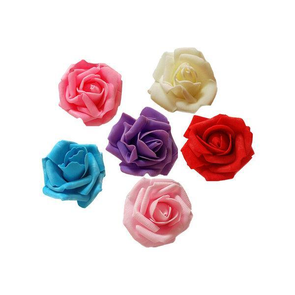 6CM Foam Rose Artificial Flower Wedding Bouquet Party Bar Decoration DIY - isfang store