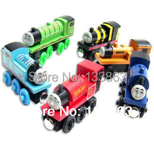 6Pcs/Lot thomas and friends trains toy set/ diecast wooden tomas train with magnet toys for kids children toys, free shipping<br><br>Aliexpress