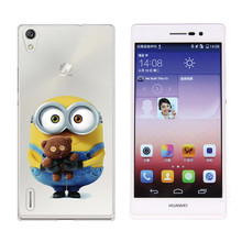 TPU Case For Huawei P7 P8 Unicorn Mandala Minions Love Words Ironman Paint Soft Clear Transparent Phone Back Cover Fundas Coque