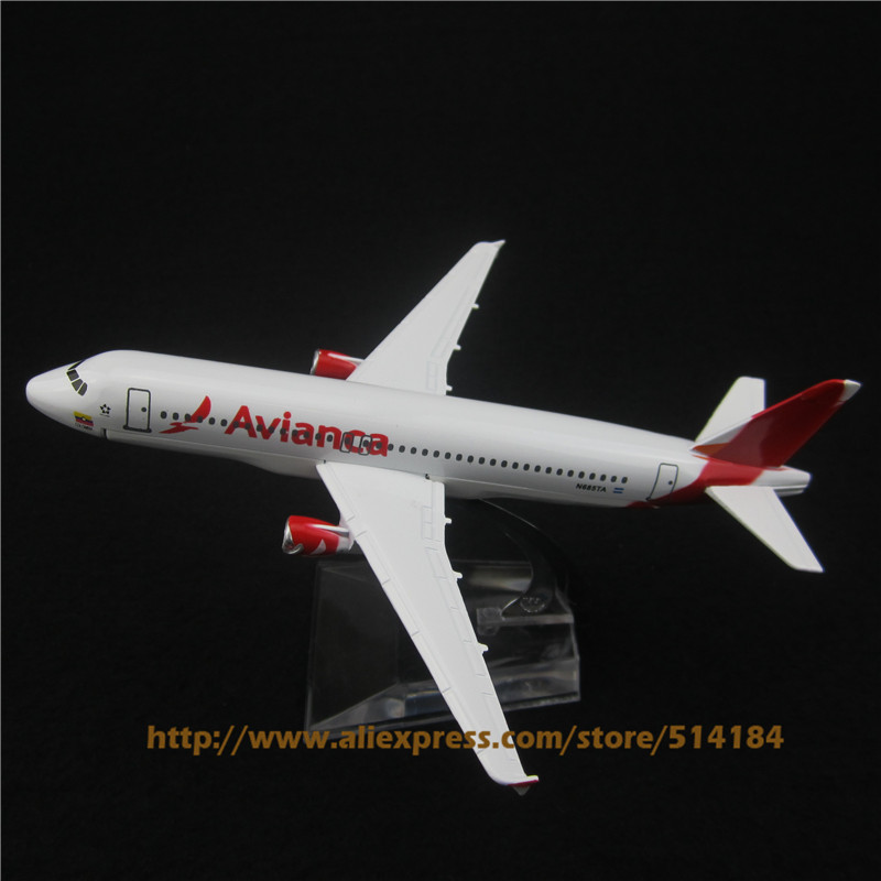 16cm Alloy Metal Air Avianca Airlines A320 Aircraft Airplane Model Airbus 320 Airways Plane Model w Stand Toy Gift(China (Mainland))