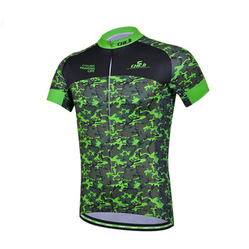 2016 CHEJI men bike jerseys pro cycling jerseys mtb team bicycle clothing ropa ciclismo Camouflage Grey wasp cycling short wear