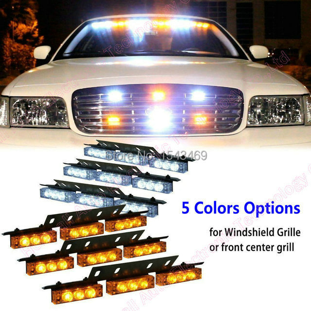 led emergency vehicle strobe lights for deck dash front. Black Bedroom Furniture Sets. Home Design Ideas