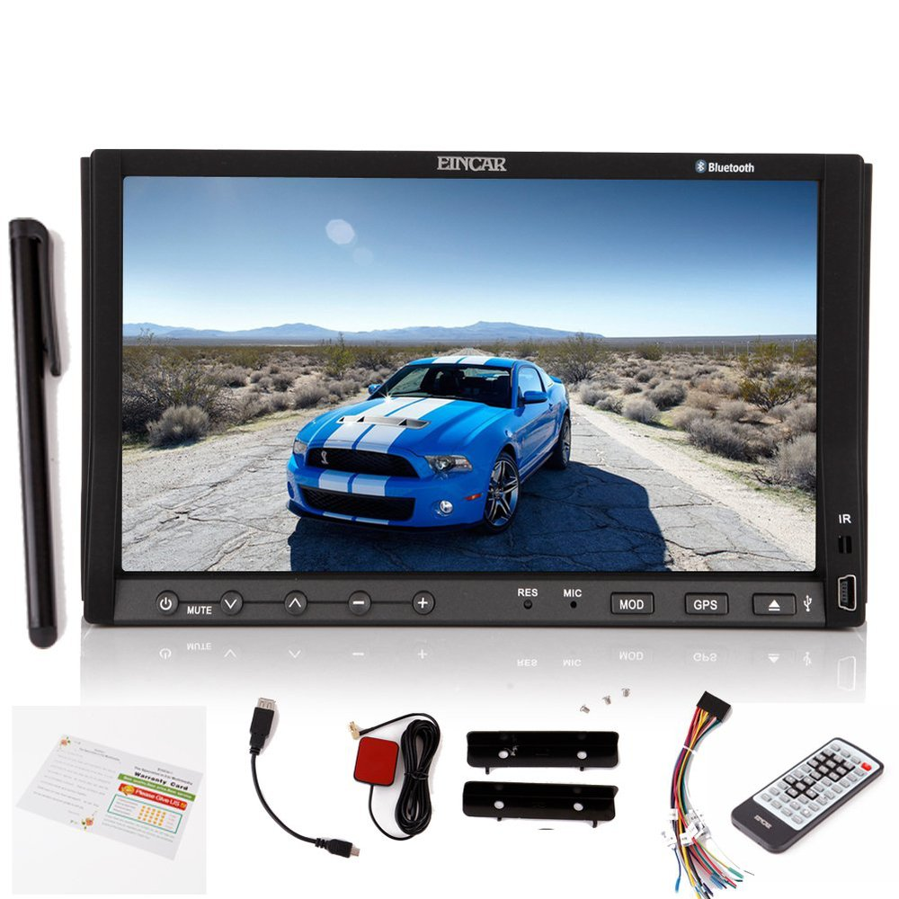 New Brand Eincar Double 2 Din Capacitive Touch screen GPS Navigation Car DVD CD Player In dash Radio Stereo IPOD Bluetooth Map(China (Mainland))