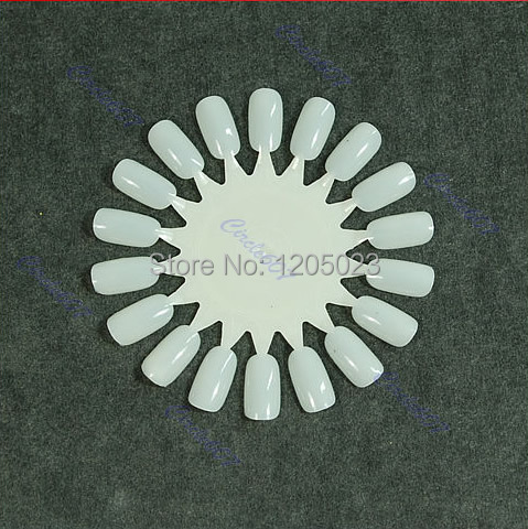 S103 Hot Sale 10 Pcs White False Nail Display Tips Practice Wheel Wholesale&Retail(China (Mainland))