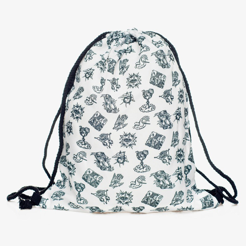 Vintage symbols printing shopping bags designer Drawstring bags casual pouch wholesale price(China (Mainland))