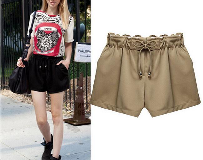 Black Women Mini Shorts 2015 Summer Casual short pants ladies big size Bottoms culottes