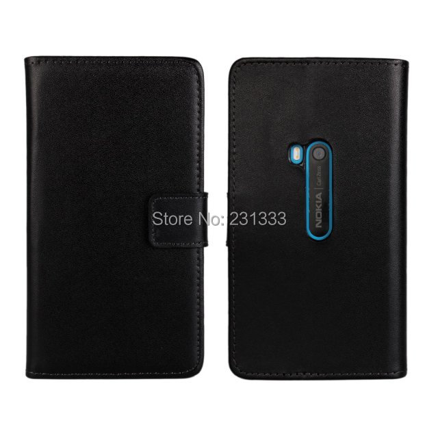 Genuine Plain wallet leather credit card stand pouch smooth holder purse For Nokia Lumia 920 holster case phone cases skin 20pcs