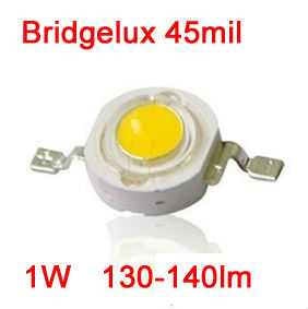 Bridgelux high power LED diode 130-140lm 1W led beads ultra bright lamp diodes cool pure warm white led chip for led light bulb(China (Mainland))