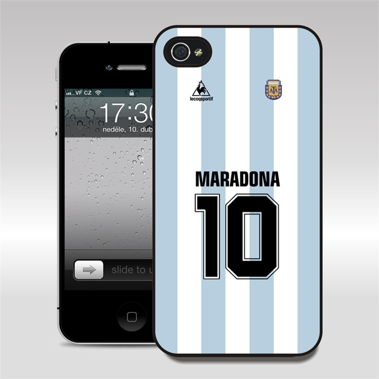 T135_10# Maradona Football Phone Cases Cover Argentina for Apple iPhone 4 4S 5 5S 6 6 Plus and for SumSung S3 S4 S5 note2 3 4(China (Mainland))