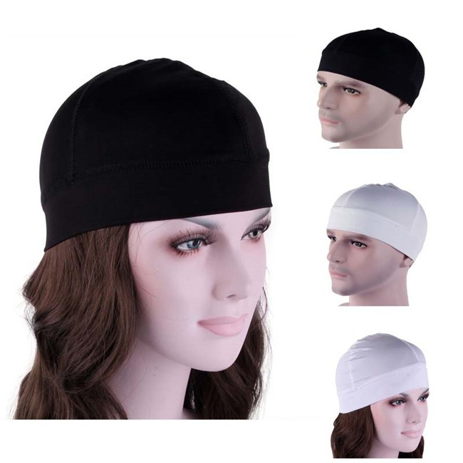 Womens Mens unisex Spandex Dome Cap Biker Football Helmet Liner Sports Beanie Skull Hat DH-01(China (Mainland))