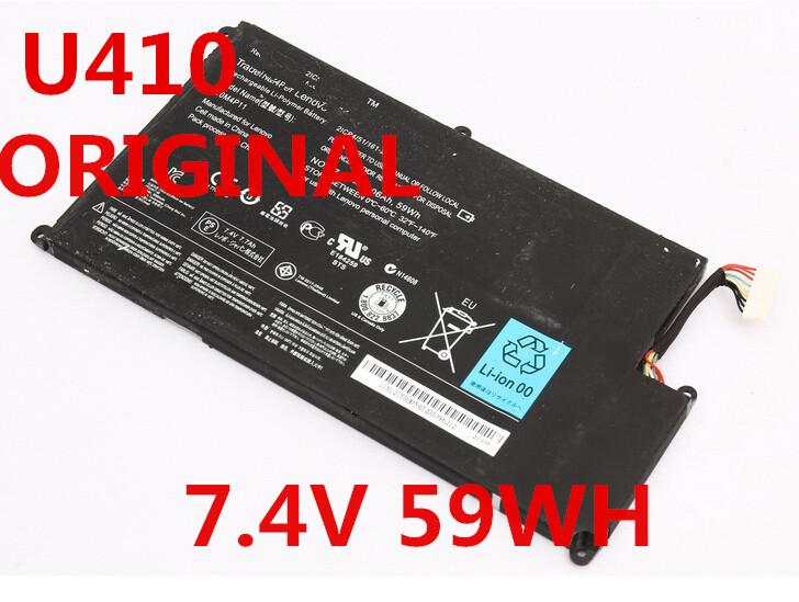 original LAPTOP battery 7.4V 59WH FOR Lenovo IdeaPad U410-IFI U410 L10M4P11(China (Mainland))