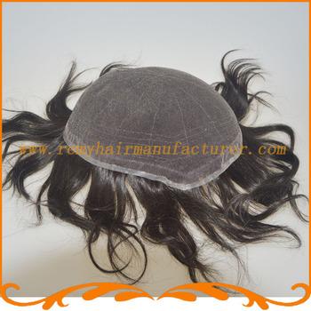 Мужские кружева парик Базы стиль полный швейцарский шнурок любой цвет отбеливатель узел естественный Индийские волосы мужской парик реми волос