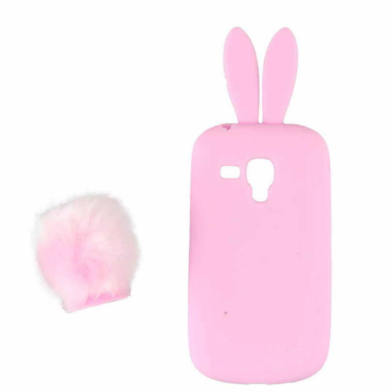 8 Colors Cute Silicon Rabbit Stand Holder Soft Case Cover Skin For Samsung Galaxy S3 Mini I8190 Phone Cases Top Quality Voberry(China (Mainland))
