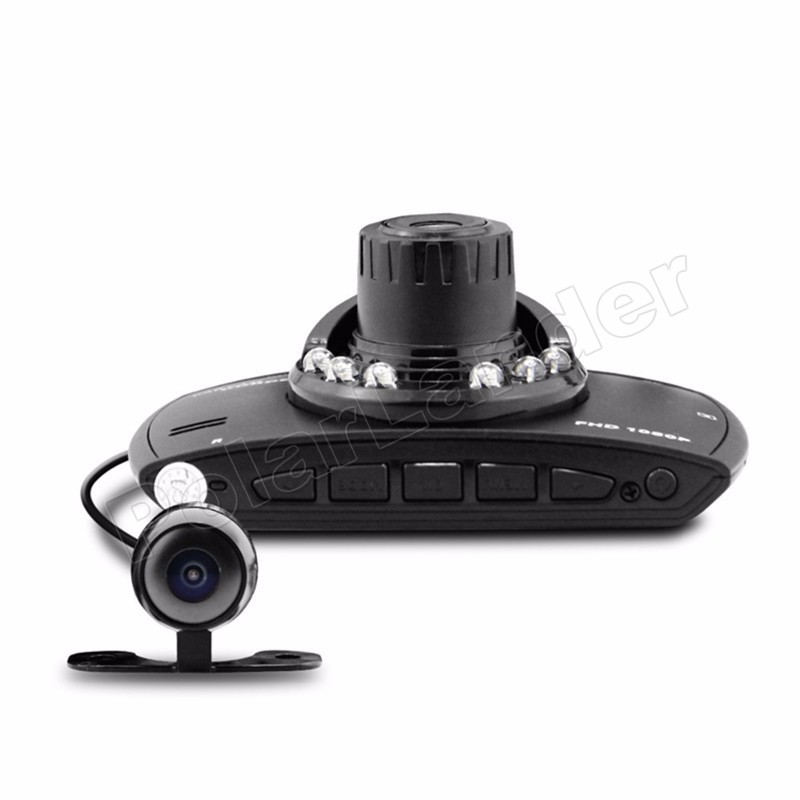 "Motion camera 2.7"" inch LCD Car DVR G30 Full HD Car DVR Recorder With Loop Recording Motion Detection Night Vision dual lens"
