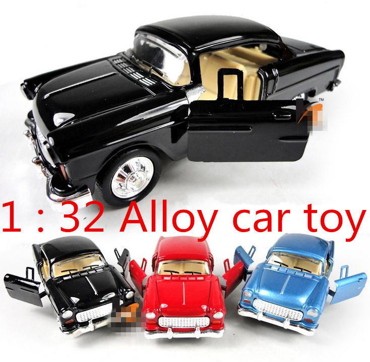 Hot sale ! 1 : 32 Alloy Classic cars pull back model cars toy,2 open door, Baby educational toys,free shipping(China (Mainland))