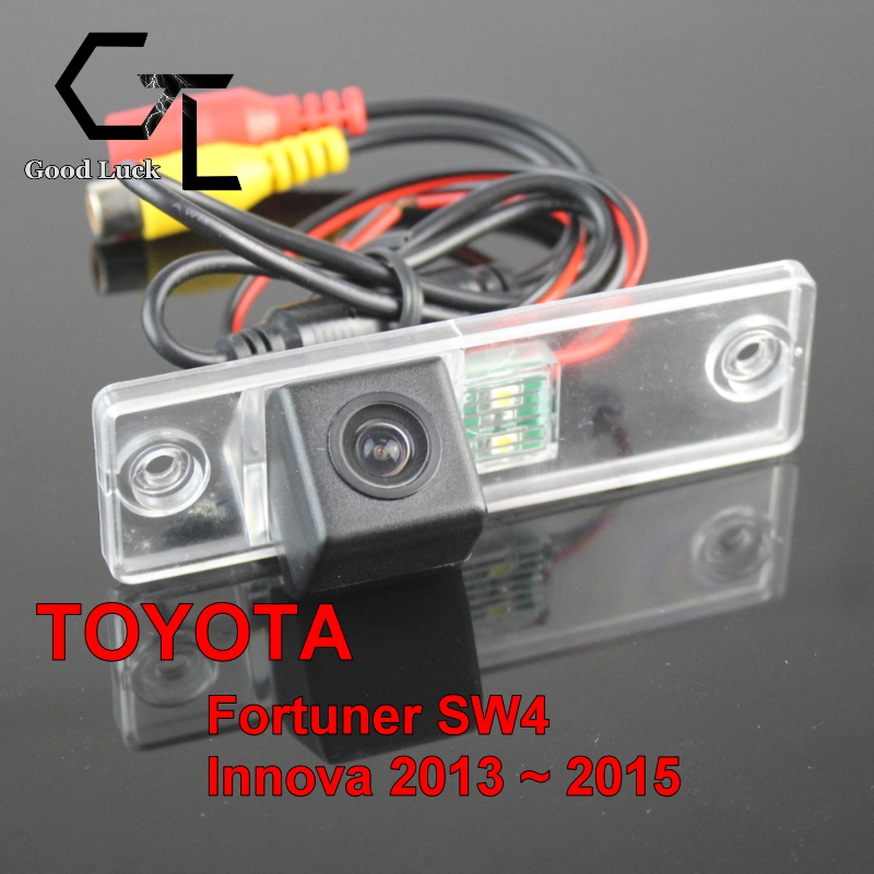 For TOYOTA Fortuner SW4 Innova 2013 ~ 2015 wireless Car Reverse Backup CCD HD Night Vision Parking Assistance Rear View Camera(China (Mainland))