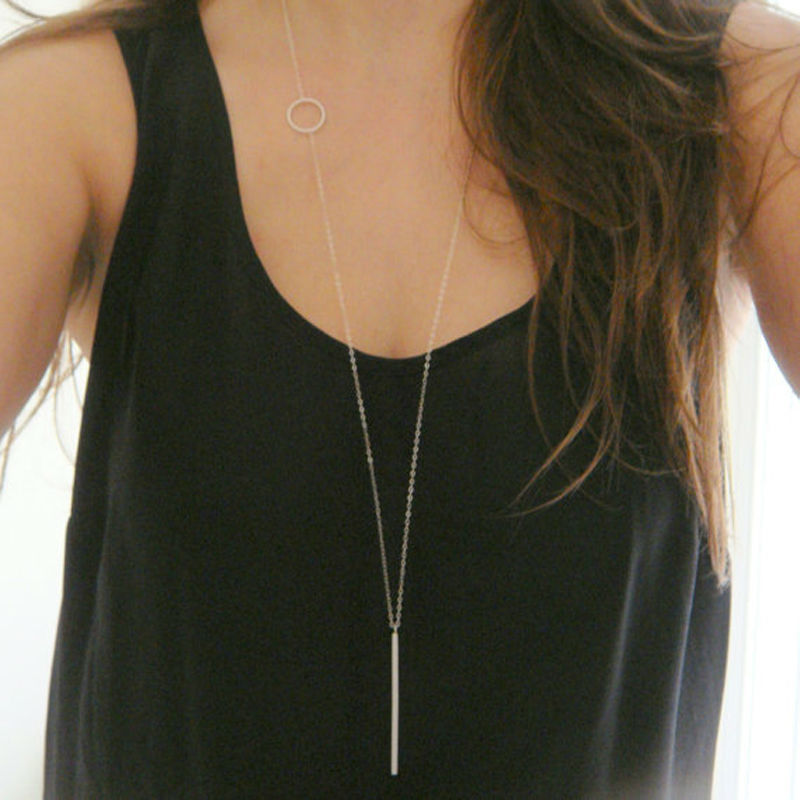 2015 New Fashion necklaces for women collar necklace long necklace metal pendants single chain vintage jewelry