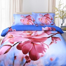 Luxury beautiful petal Duvet cover modern king/queen 3D bedding set 4PCbedclothes bed sheet sets bedding covers Free shipping 02(China (Mainland))