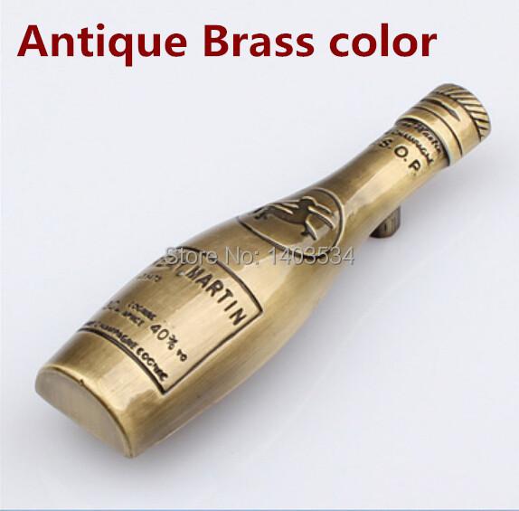 Гаджет  5pcs wine bottle shape cabinet handle Zinc Alloy Kitchen Furniture handle antique drawer handle Antique brass color None Мебель