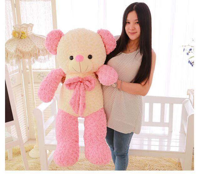 large 110cm pink bear plush toy cartoon creative Teddy bear doll, hugging bear pillow, birthday gift b7773(China (Mainland))