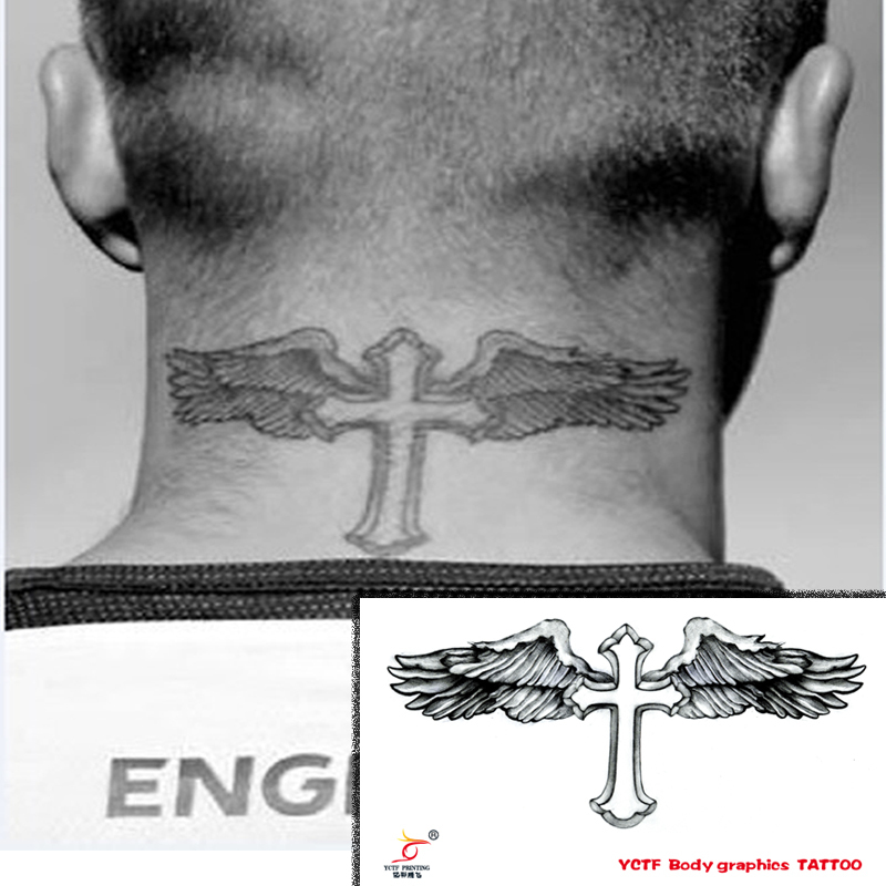 Buy temporary tattoos neck back body for Fake neck tattoo