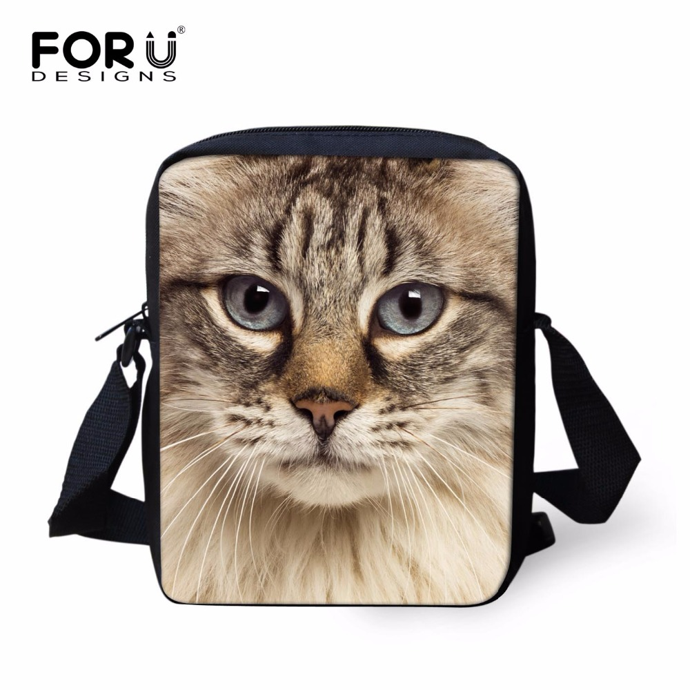 FORUDESIGNS Cute 3D Animal Cat Girls School Bags Children Mini Schoolbag Students Small Women Book Bag Kids Mochila Infantil - KIDS FOR YOU,CO.,LTD store
